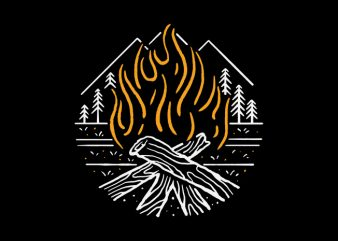 Campfire buy t shirt design for commercial use