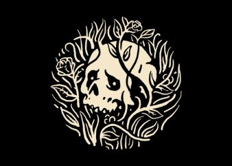 Skull Plant buy t shirt design artwork