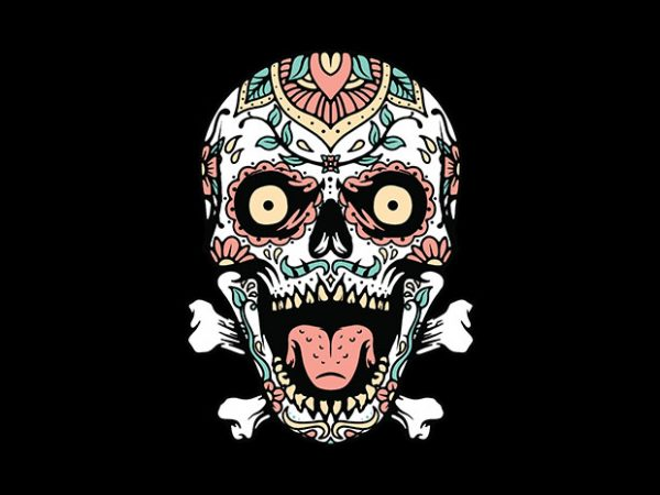 Mexican Skull design for t shirt