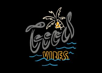 Good Vibes Typo t shirt design for download