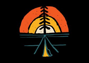 Camp Sunset t shirt design for purchase