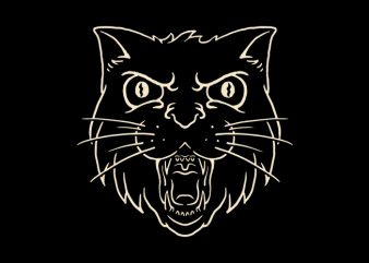 Angry Cat t shirt design for purchase