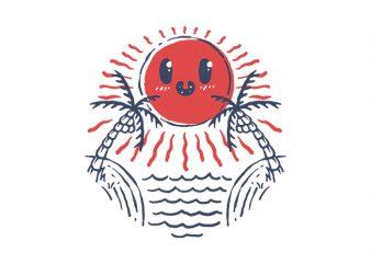 Hello Sunset design for t shirt