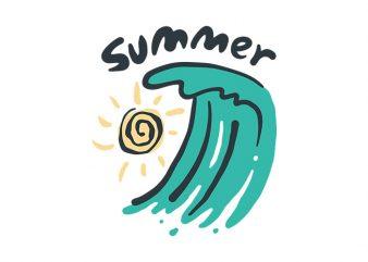 Summer Beach graphic t-shirt design