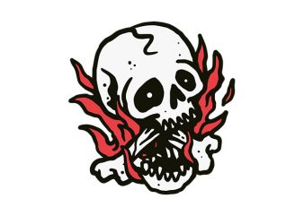 Skull Fire ready made tshirt design