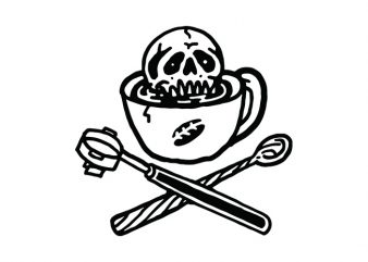 Death Before Decaf t-shirt design for commercial use