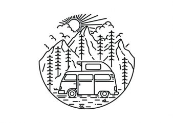 Van and Nature t shirt design for sale