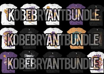 kobe bryant bundle t shirt vector art