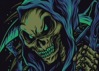 Skull Reaper T-Shirt Design Template