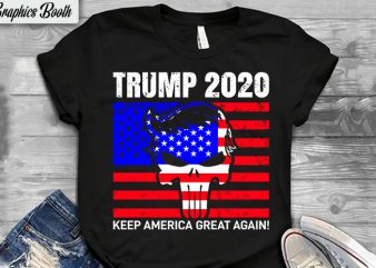 Trump 2020, buy t shirt design artwork, t shirt design to buy, vector T-shirt Design, American election 2020.