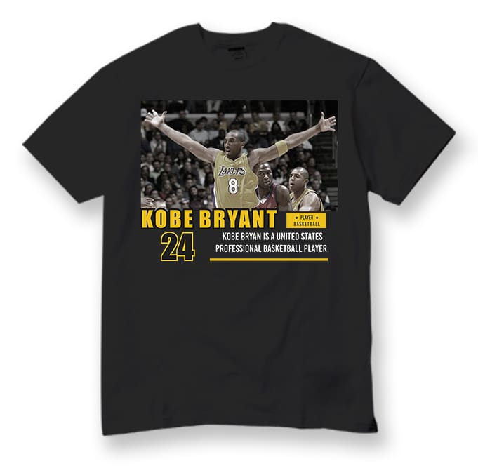 Bundles 16 Design Kobe Bryant PNG, PSD, CDR File Ready to use t shirt design for printful