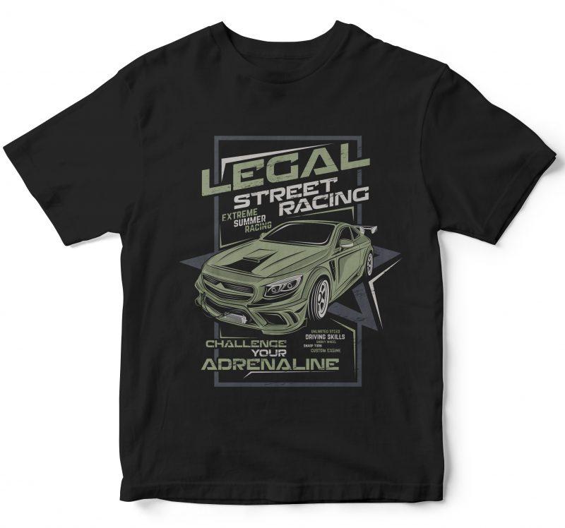 25 pop car style t-shirt designs combined with lettering design bundles