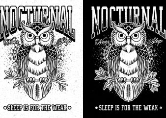 Nocturnal Owl Never Sleep PNG Transparent Background buy t shirt design