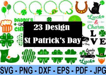 23 Design Saint Patrick Day Svg Bundle, Irish Svg, Png, Eps, Lucky Svg, St Paddy Day Svg, Shamrock Svg, Horseshoe Svg – Clover Leaf Svg 5