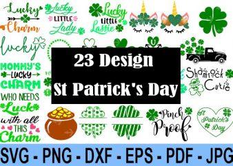 23 Design Saint Patrick Day Svg Bundle, Irish Svg, Png, Eps, Lucky Svg, St Paddy Day Svg, Shamrock Svg, Horseshoe Svg – Clover Leaf Svg 6