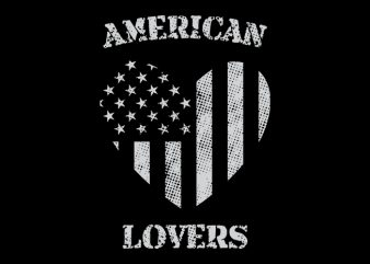 American Lovers graphic t-shirt design
