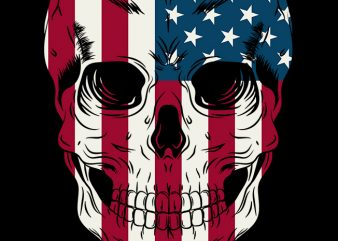 Skull of America 1 t-shirt design for commercial use