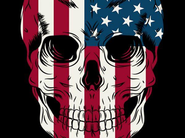 Skull of America 1 t-shirt design for commercial use