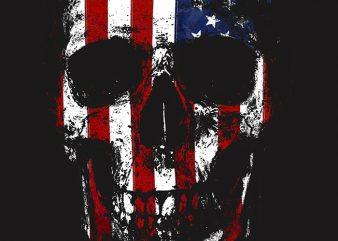 Skull of America 2 t-shirt design png
