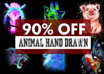 Super Cool Animal Hand Drawn Bundle – 33 Designs