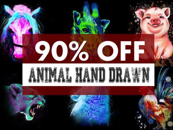 Super Cool Animal Hand Drawn Bundle – 33 Designs