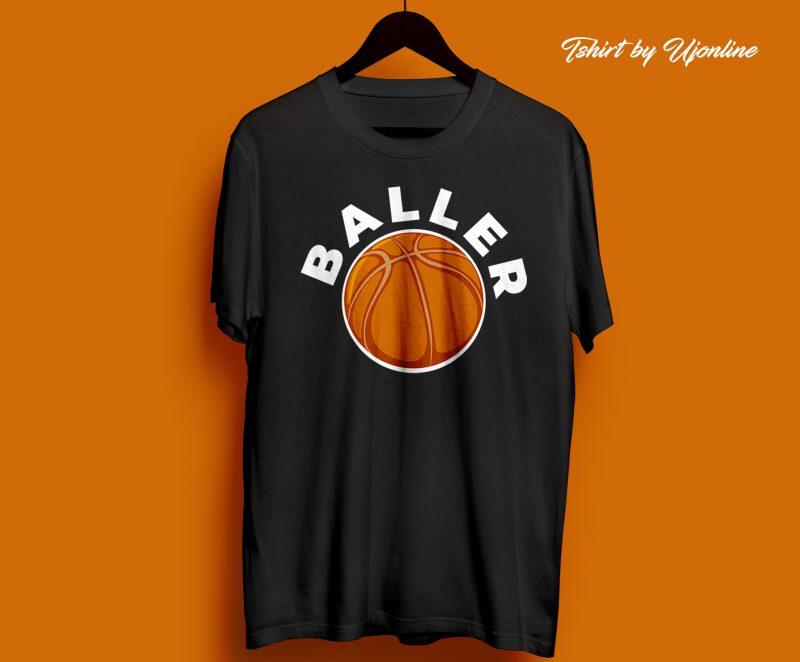 BALLER Baseball t shirt design for sale