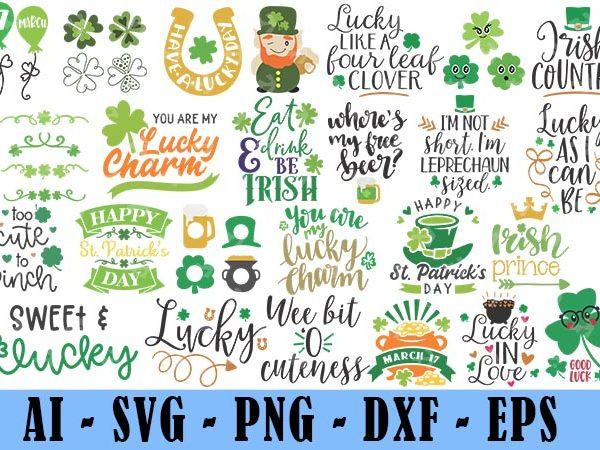 25 Design Saint Patrick Day Svg Bundle, Irish Svg, Png, Eps, Lucky Svg, St Paddy Day Svg, Shamrock Svg, Horseshoe Svg – Clover Leaf Svg 5