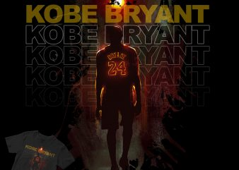 Kobe Bryant the legend! black mamba basketball t shirt design for purchase
