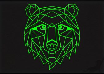 Bear Poly buy t shirt design for commercial use