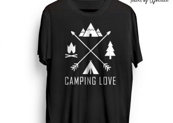 CAMPING LOVE t shirt design for sale