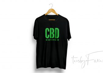 CBD T-Shirt Design for personal use