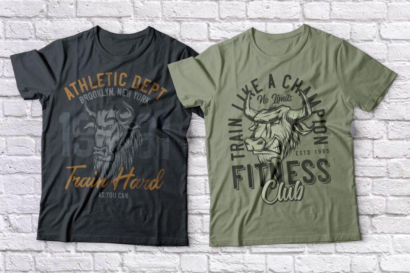 Fitness & Gim Bundle t shirt designs for sale