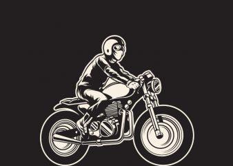 Cafe Racer print ready t shirt design