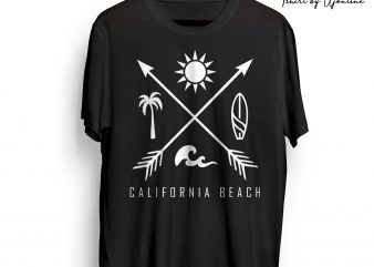 California Beach Vibes t shirt design for download