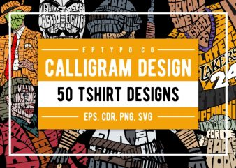 50 Calligram Tshirt Designs
