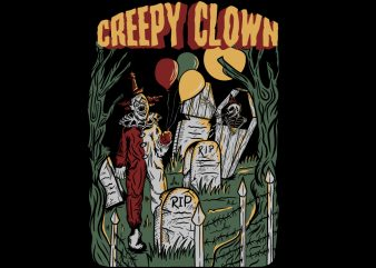 Creepy Clown design for T- shirt buy t shirt design