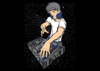 DJ Man Show t shirt design for download
