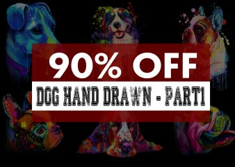 Super Cool Dog Hand Drawn Bundle – Part 1 -22 Designs