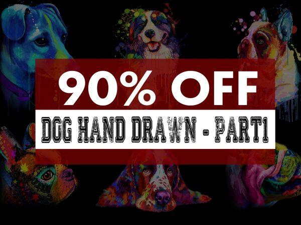 Super Cool Dog Hand Drawn Bundle – Part 1 -22 Designs