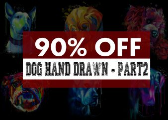 Super Cool Dog Hand Drawn Bundle – Part 2 – 22 Designs