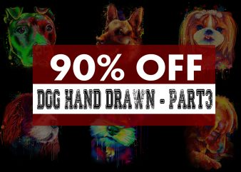 Super Cool Dog Hand Drawn Bundle – Part 3 -22 Designs