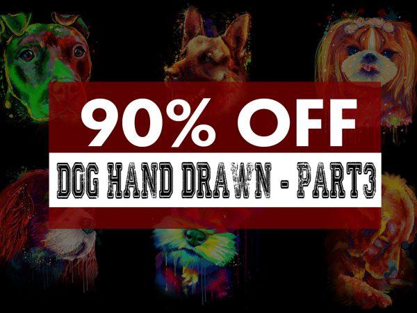 Super Cool Dog Hand Drawn Bundle – Part 3 -22 Designs