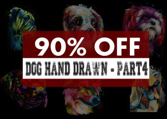 Super Cool Dog Hand Drawn Bundle – Part 4 -23 Designs