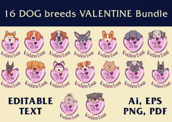 16 Dogs Valentine Bundle