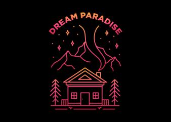Dream Paradise t-shirt design for sale