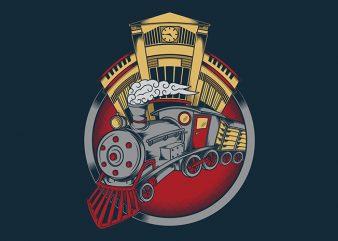 Drive The Train graphic t-shirt design