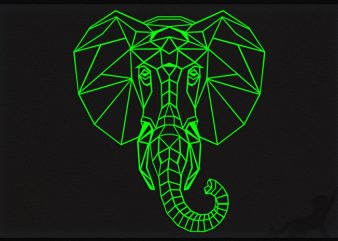 Elephant Poly design for t shirt