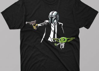 Baby Yoda Star Wars The Mandalorian The Child T-Shirt Design for Commercial Use