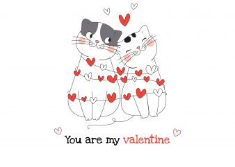 You Are My Valentine T-Shirt Design