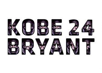 Kobe Bryant 24 Black Mamba T-Shirt Design